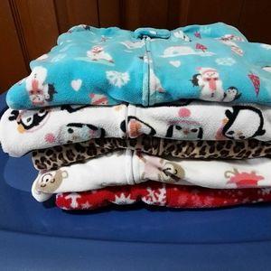 Snuggly Fleece Footie PJS Size 3T